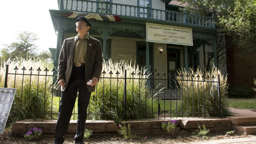 Gregorio Alcaro gives a tour of Casa Mayan, the old home on the Auraria Ninth Street Historic District that was once his family's restaurant, Sept. 27, 2018. (Kevin J. Beaty/Denverite)