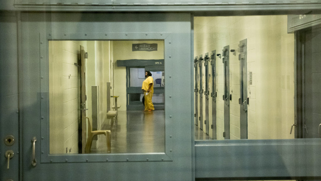 Inside Denver's downtown detention center. Oct. 11, 2018. (Kevin J. Beaty/Denverite)