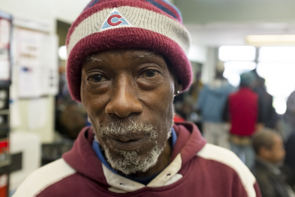 James Allensworth poses for a portrait inside Senior Support Services in North Capitol Hill, Oct. 17, 2018. (Kevin J. Beaty/Denverite)