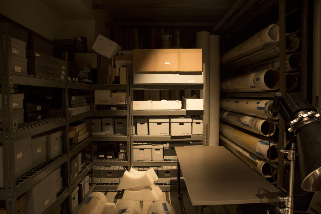 Inside a collections room at the Clyfford Still Museum, Oct. 23, 2018. (Kevin J. Beaty/Denverite)
