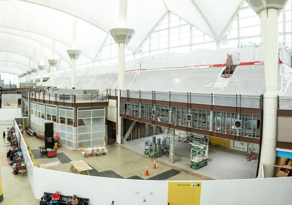Construction work at Denver International Airport, Oct. 23, 2018. (Kevin J. Beaty/Denverite)