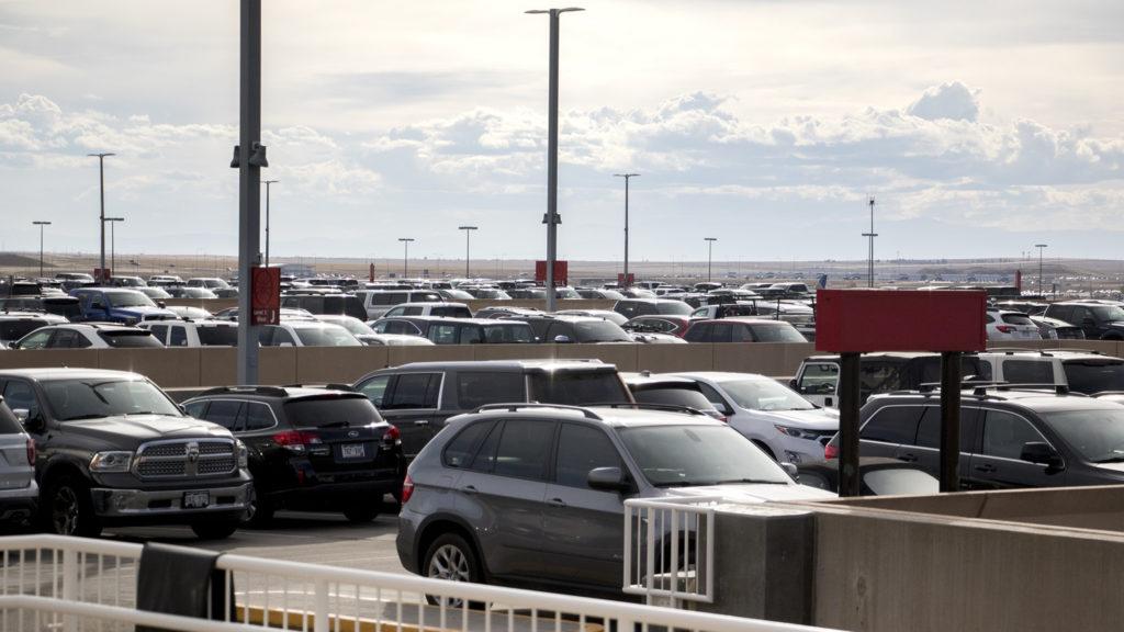 Parking at Denver International Airport, Oct. 23, 2018. (Kevin J. Beaty/Denverite)