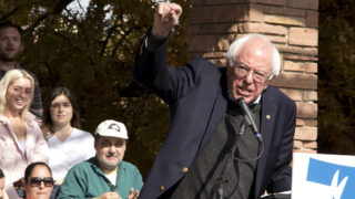 Bernie Sanders visits the CU Boulder campus, Oct. 24, 2018. (Kevin J. Beaty/Denverite)