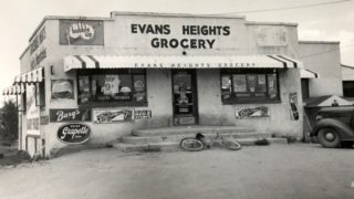 Evans Heights Grocery, opened by the Abeyta Family near Evans Avenue and Vallejo Street, which wold later be turned into La Lomita Cafe 1955. Photo Courtesy of Courtesy of Chuck Martinez, Arlene Mackintosh and Allen Romero.