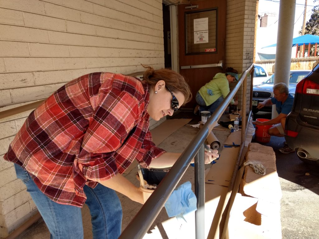 Volunteers from Lockheed Martin spruce up Vic