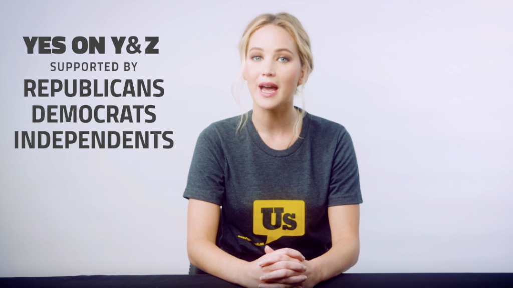 Actress Jennifer Lawrence appears in a political add urging support for Amendment Y and Z, two anti-gerrymandering ballot measures in Colorado. (Screenshot)