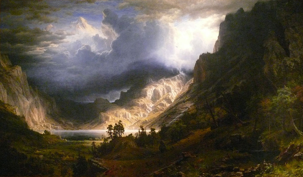 """""""A Storm in the Rocky Mountains, Mt. Rosalie,"""" by Albert Bierstadt, depicts what's now known as Mount Evans. (Wikimedia Commons)"""
