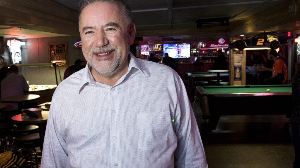 Denver mayoral candidate Danny Lopez poses for a portrait during his karaoke DJ set at Dubb's Pub in Littleton, Nov. 2, 2018. (Kevin J. Beaty/Denverite)
