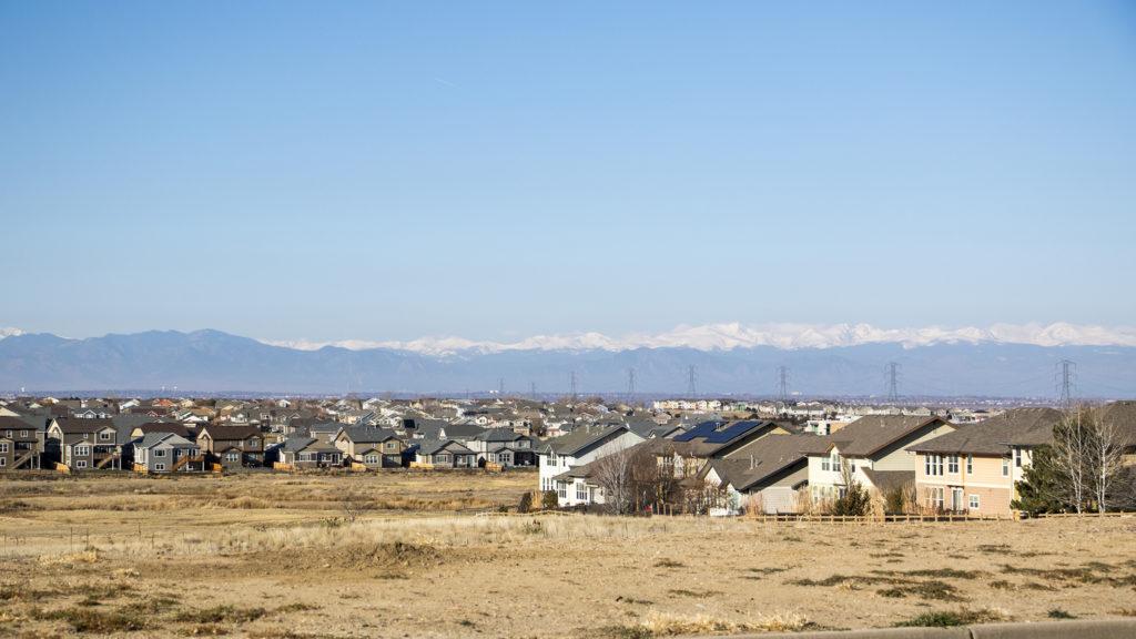 Many, many new homes in Commerce City, Nov. 9, 2018. (Kevin J. Beaty/Denverite)