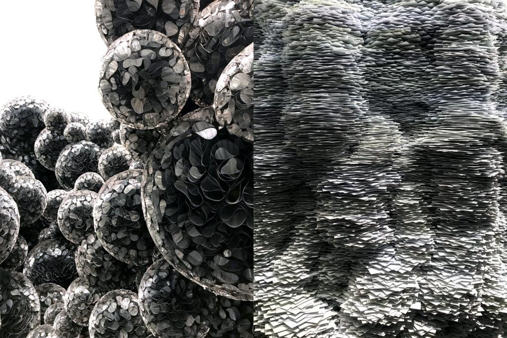 Work by Tara Donovan inside the Museum of Contemporary Art, Nov. 9, 2018. (Ashley Dean/Denverite)
