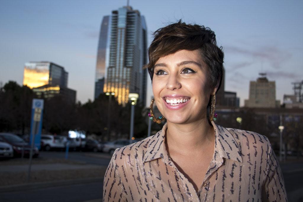 District 1 City Council candidate Raven Porteous poses for a portrait, Nov. 15, 2018. (Kevin J. Beaty/Denverite)