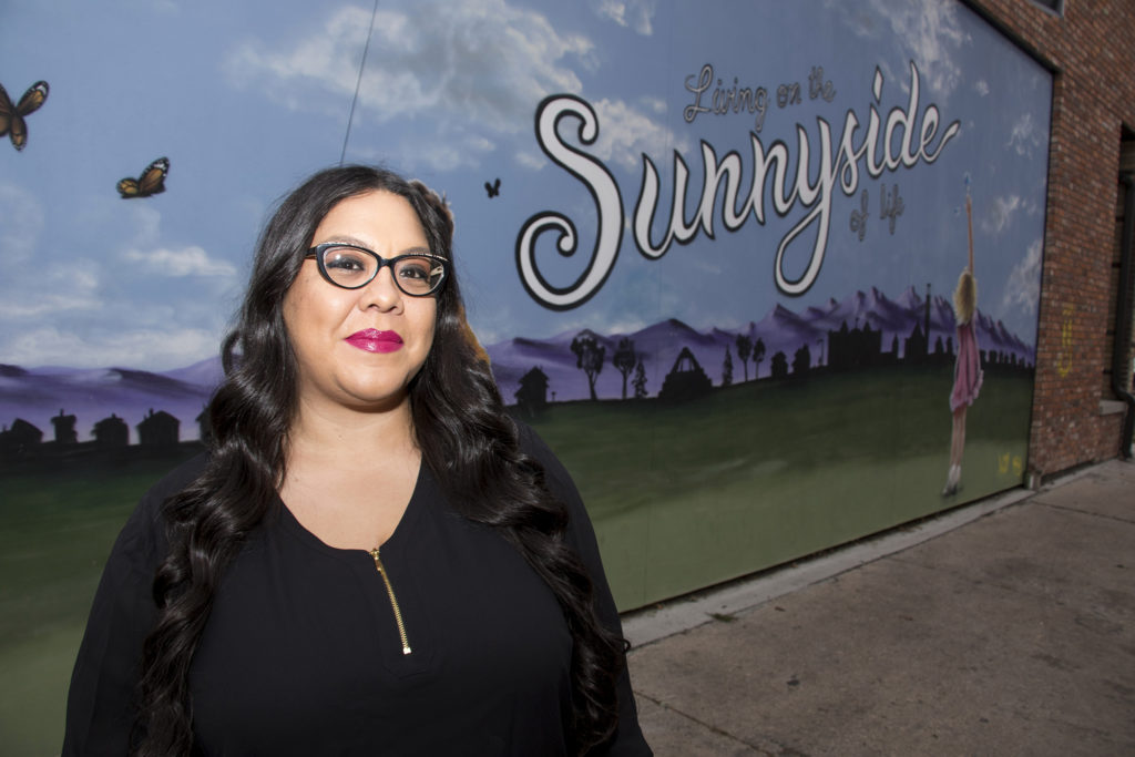 District 1 City Council candidate Victoria Aguilar poses for a portrait in Sunnyside, Nov. 16, 2018. (Kevin J. Beaty/Denverite)