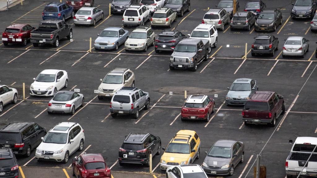 A parking lot, Nov. 27, 2018. (Kevin J. Beaty/Denverite)