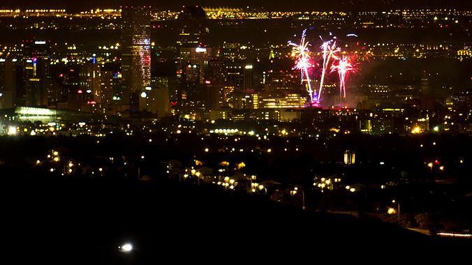 Fireworks over Denver. (Kevin J. Beaty/Denverite)