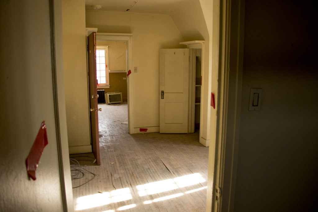 Inside an apartment atop a historic theater on 44th Avenue in Berkeley that may be restored, Dec. 5, 2018. (Kevin J. Beaty/Denverite)