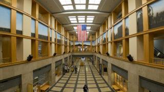 Inside the Denver Public Library's main branch downtown, Dec. 12, 2018. (Kevin J. Beaty/Denverite)