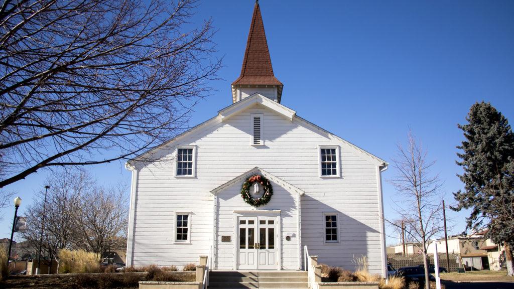 The historic Eisenhower Chapel in Lowry, Dec. 13, 2018. (Kevin J. Beaty/Denverite)