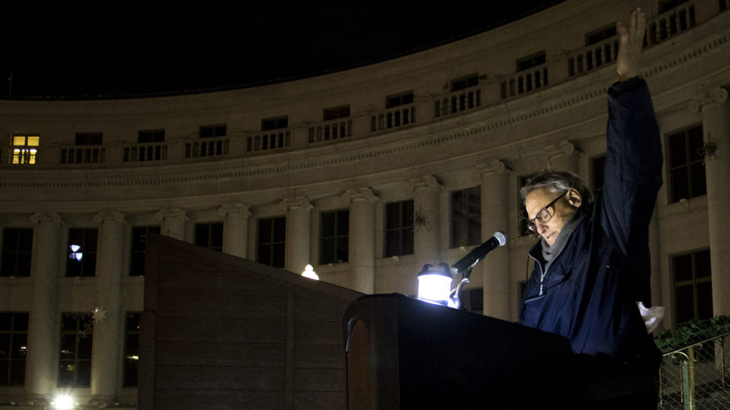 Colorado Coalition for the Homeless holds a vigil for the 233 (or more) people who died while experiencing homelessness on Denver streets this year. Dec. 22, 2018, (Kevin J. Beaty/Denverite)