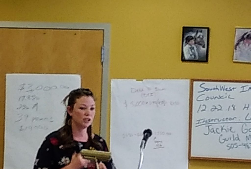 Jacquelyn Gonzales, a loan officer, teaches a class for aspiring home buyers in Westwood.