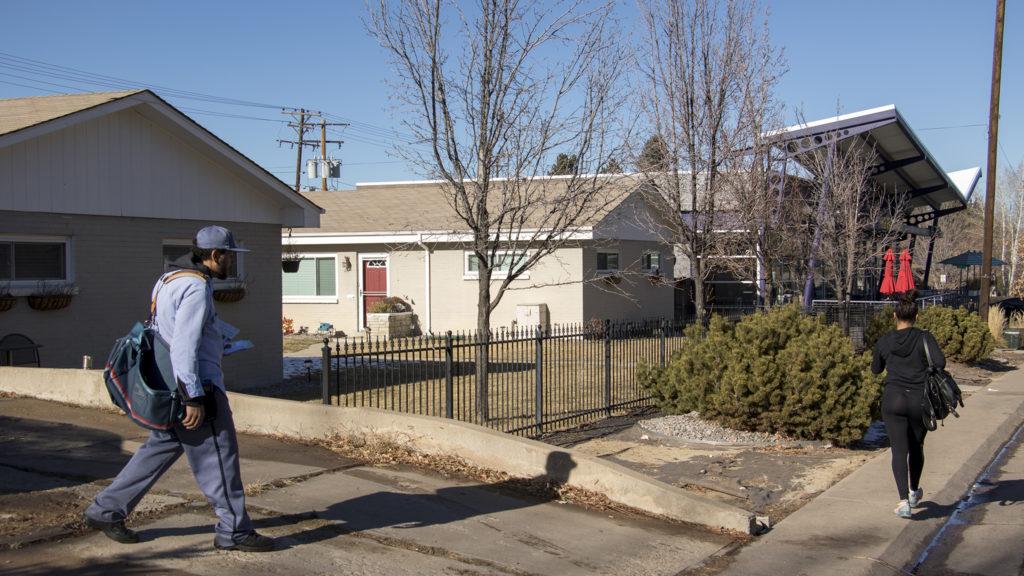 Holly Street in Hilltop, Jan. 4, 2018. (Kevin J. Beaty/Denverite)