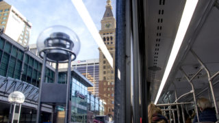 A view from inside a 16th Stree Mall Ride, Jan. 8, 2018. (Kevin J. Beaty/Denverite)