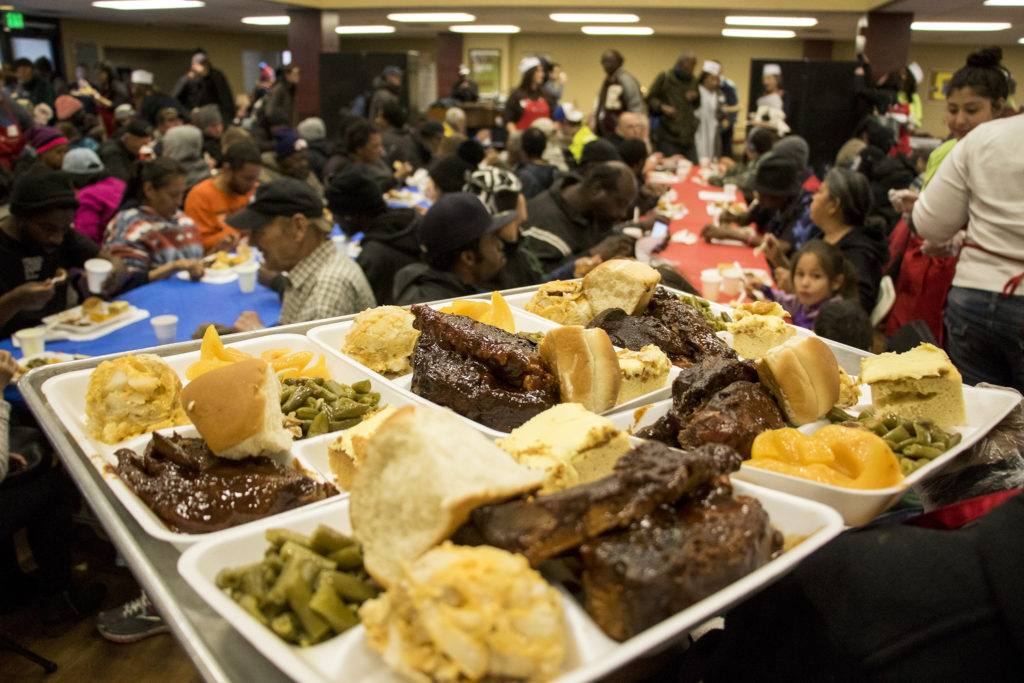 Volunteers of America hosts their annual Martin Luther King Jr. Day dinner, Jan. 21, 2019. (Kevin J. Beaty/Denverite)