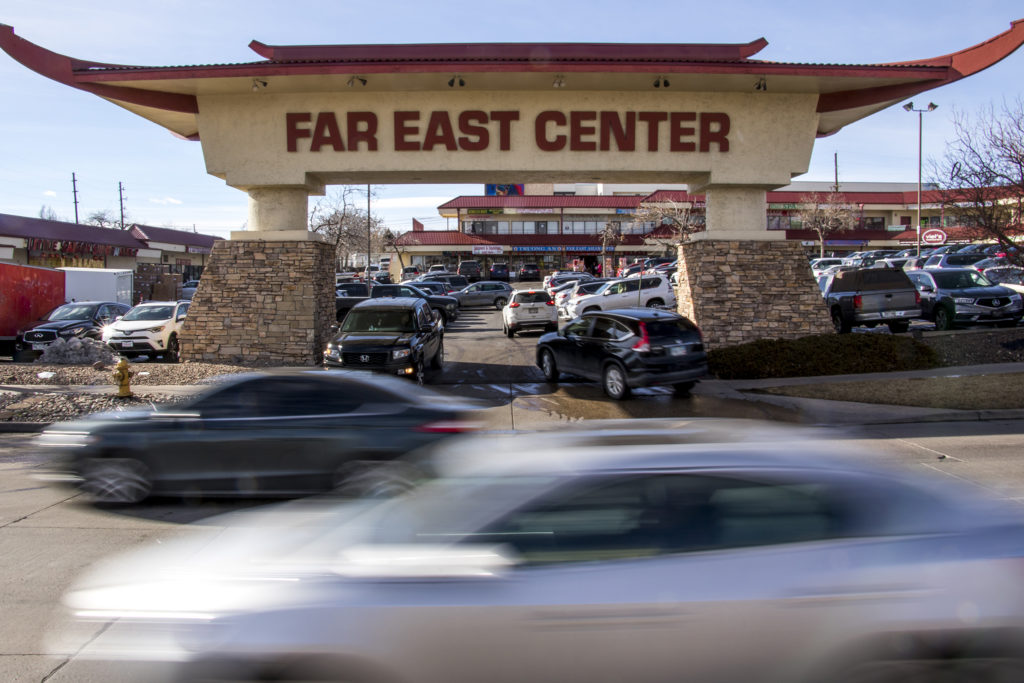 The Far East Center on Federal Boulevard, Jan. 26, 2019. (Kevin J. Beaty/Denverite)