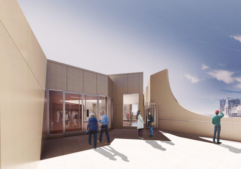 A rendering of a new roof deck coming to the Denver Art Museum. (Courtesy Denver Art Museum)