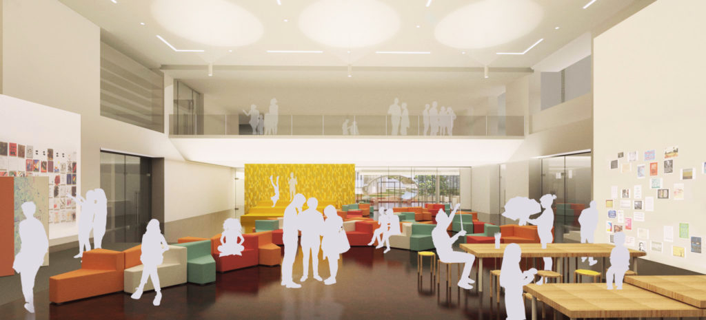 A rendering of the Creative Hub in the Denver Art Museum's new North Building. (Courtesy of Denver Art Museum)