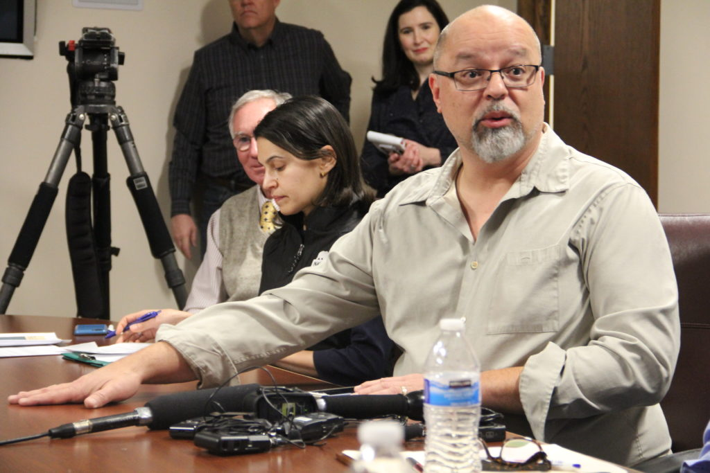 NOAA employee Al Romero during a roundtable discussion with federal workers on Friday, Jan. 25, 2019, in Denver. (Esteban L. Hernandez/Denverite)
