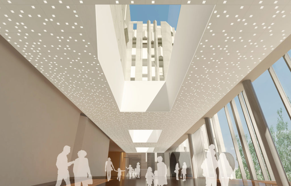A rendering of a skylight in the new Denver Art Museum building. (Courtesy Denver Art Museum)