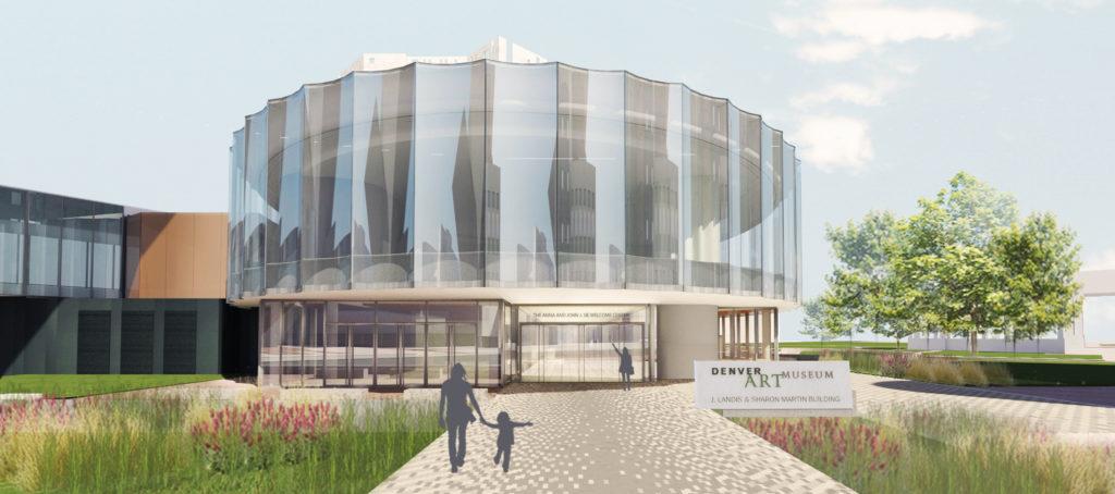 A rendering the new Denver Art Museum building. (Courtesy Denver Art Museum)
