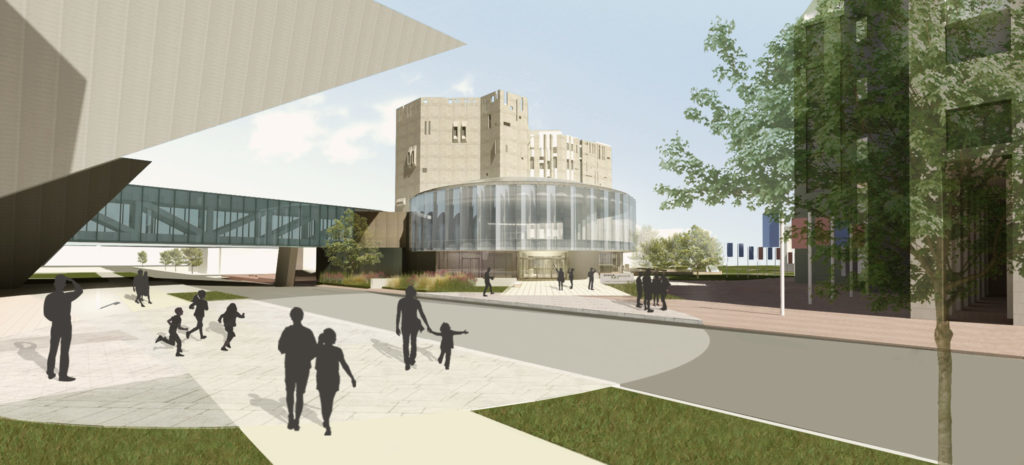A rendering of the Denver Art Museum's new North Building. (Courtesy of Denver Art Museum)