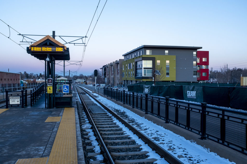 Lamar Station Crossing in Lakewood on Feb. 20,2019. The complex has 87 apartments for households earning 60 percent or less of the area median income. Plus this transit-oriented development is just blocks from Casa Bonita. (Kevin J. Beaty/Denverite)