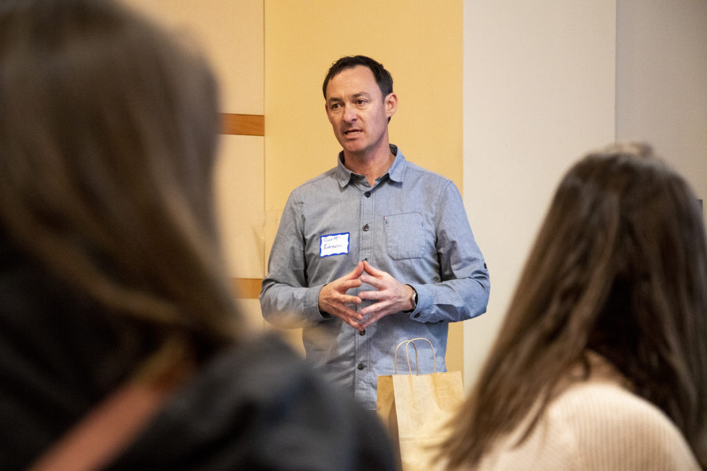 Civic Center Conservancy Executive Director Scott Robson speaks in a breakout session during Denver's Road Home's annual Giver's Summit, Feb. 5, 2019. (Kevin J. Beaty/Denverite)