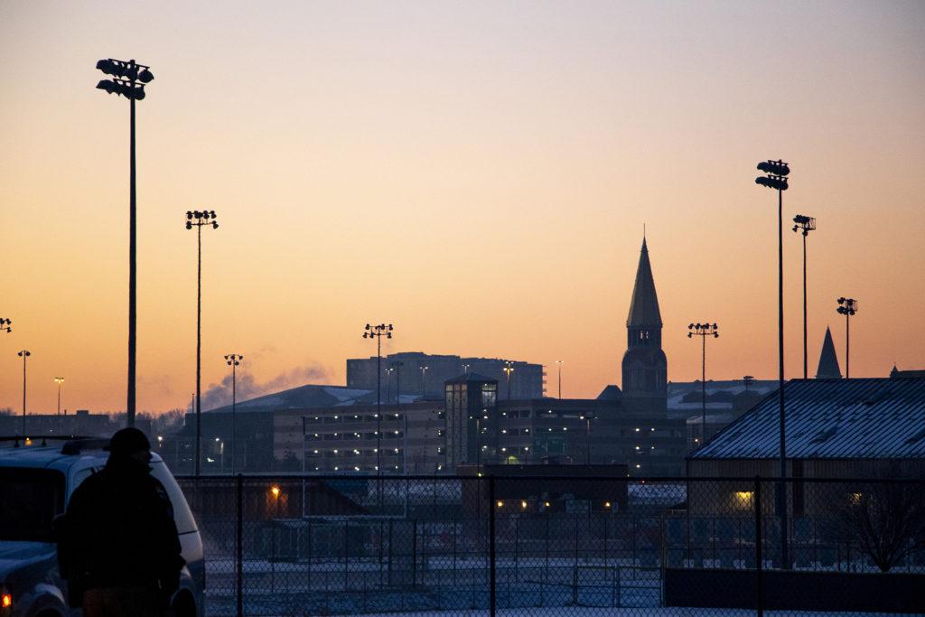 The University of Denver at dawn, Feb. 11, 2019. (Kevin J. Beaty/Denverite)