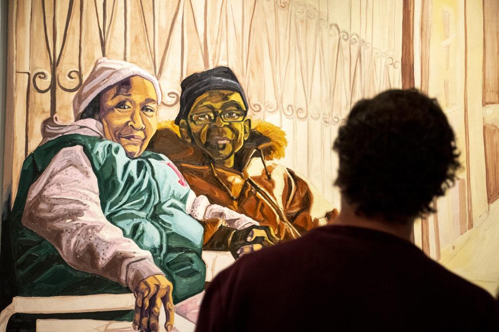 An exhibit of Jordan Casteel's paintings at the Denver Art Museum, Feb. 14, 2019. (Kevin J. Beaty/Denverite)