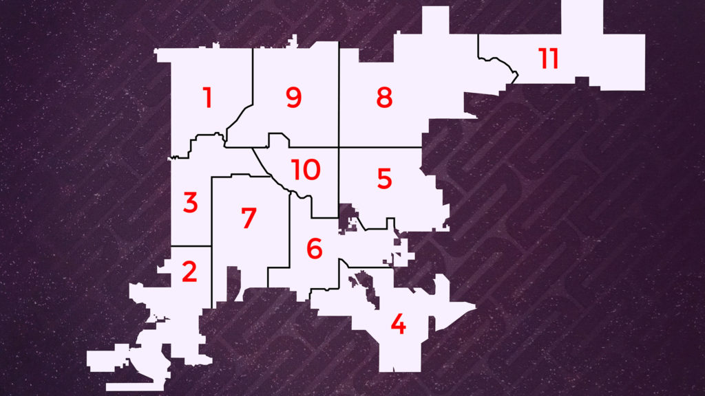 Denver City Council Districts. You can search the district map by address at the city's website.