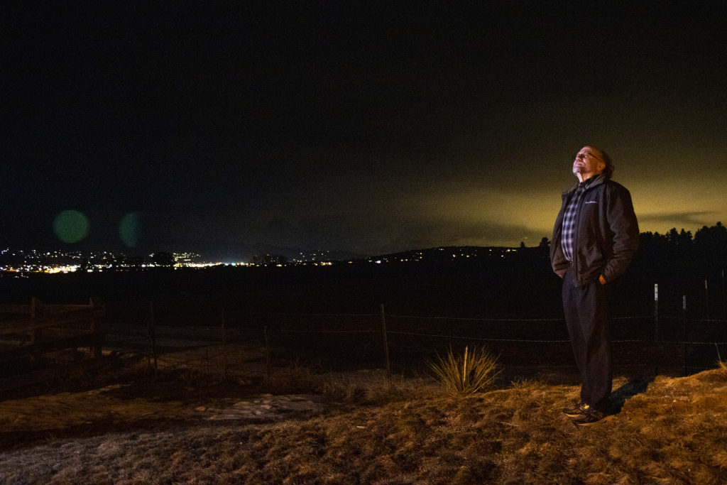 Loring Wirbel poses for a portrait near his home in Colorado Springs, March 8, 2019. (Kevin J. Beaty/Denverite)