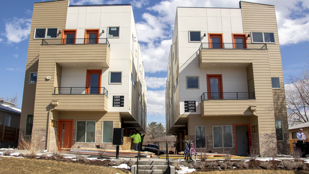 A Sustainable Design Build complex, March 7, 2019. (Kevin J. Beaty/Denverite)