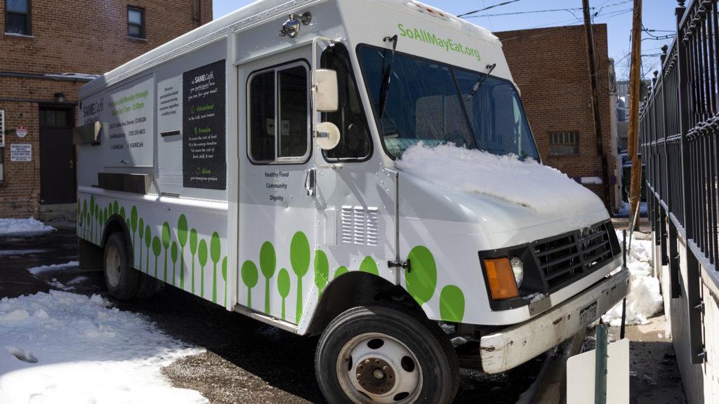 SAME Cafe's new food truck, March 15, 2019. (Kevin J. Beaty/Denverite)