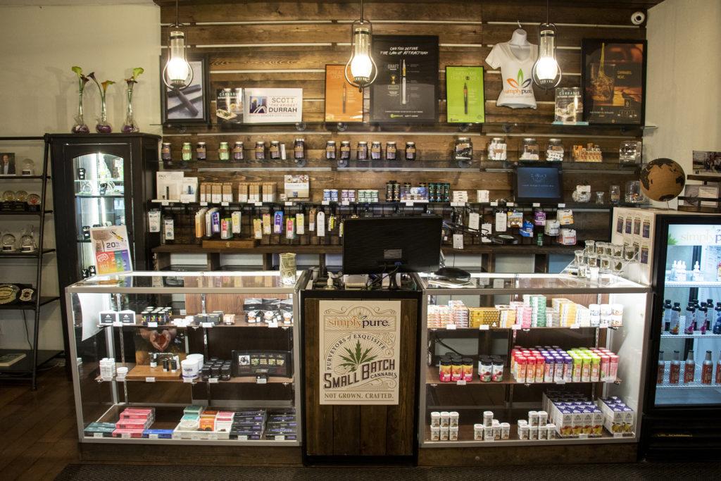 Simply Pure dispensary in Denver's Highland neighborhood, March 19, 2019. (Kevin J. Beaty/Denverite)