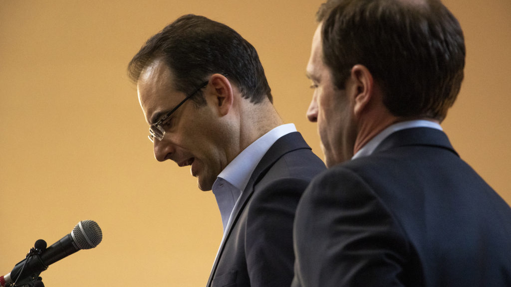 Colorado Attorney General Phil Weiser speaks during a vigil for the victims of a massacre at a Christchurch, New Zealand, mosque at the Colorado Muslim Society, March 16, 2019. (Kevin J. Beaty/Denverite)