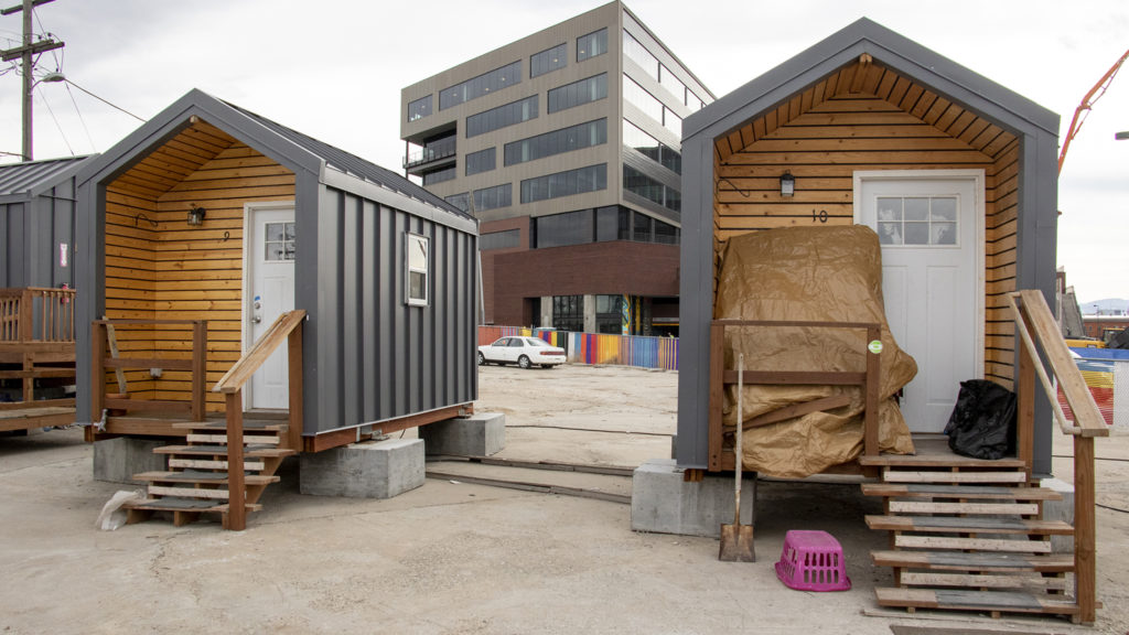 The Beloved Community tiny home village, March 21, 2019. (Kevin J. Beaty/Denverite)