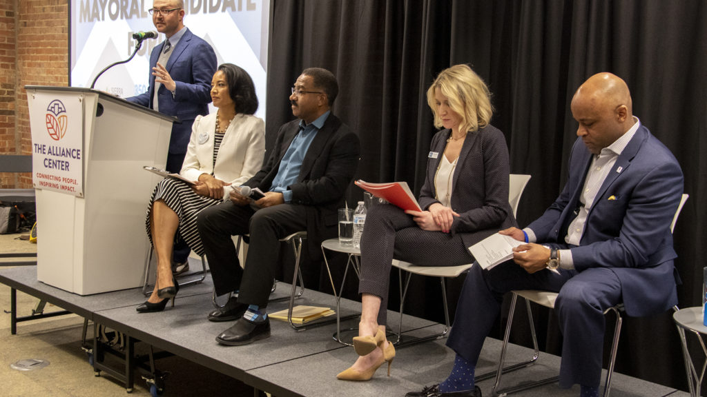 A mayoral candidate forum on environmental policy at the Alliance Center downtown, March 21, 2019. (Kevin J. Beaty/Denverite)