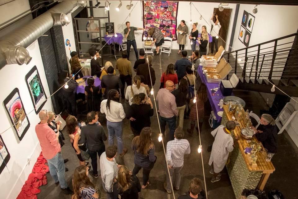 Denverite's second birthday party. (Kevin J. Beaty/Denverite)