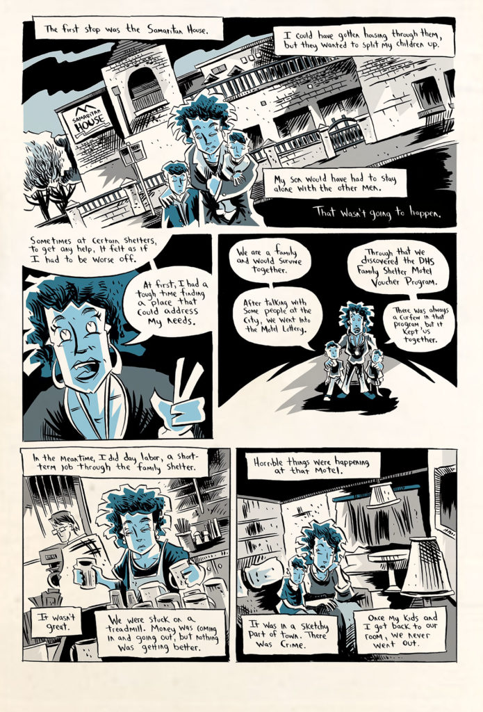 A page from artist Karl Christian Krumpholz's comic about homelessness, (Courtesy of Karl Christian Krumpholz.)