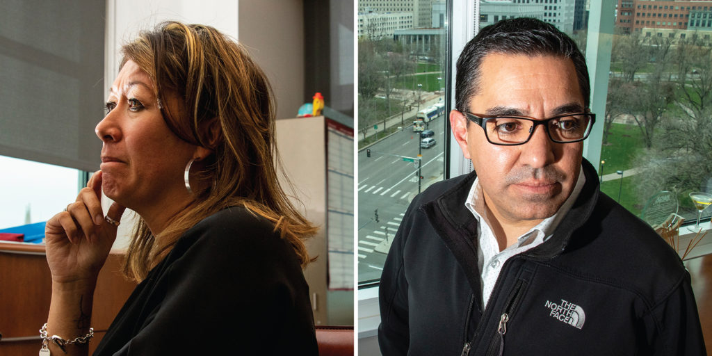 Lisa Straight and Steve Castro, April 30, 2019. (Kevin J. Beaty/Denverite)