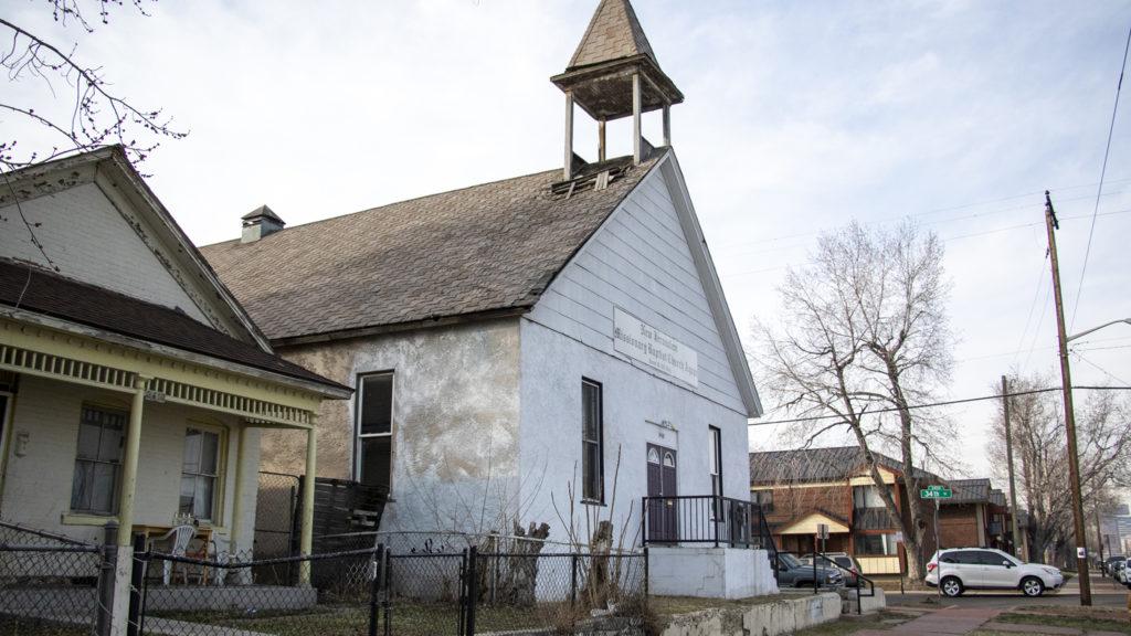 New Jerualem Missionary Church on Lawrence Street, Five Points, April 3, 2019. (Kevin J. Beaty/Denverite)