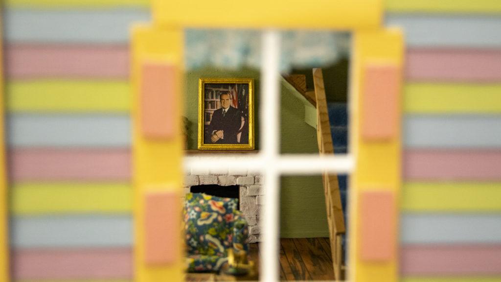 Mercy Housing's Home/Maker art exhibition on Market Street downtown, April 23, 2019. (Kevin J. Beaty/Denverite)